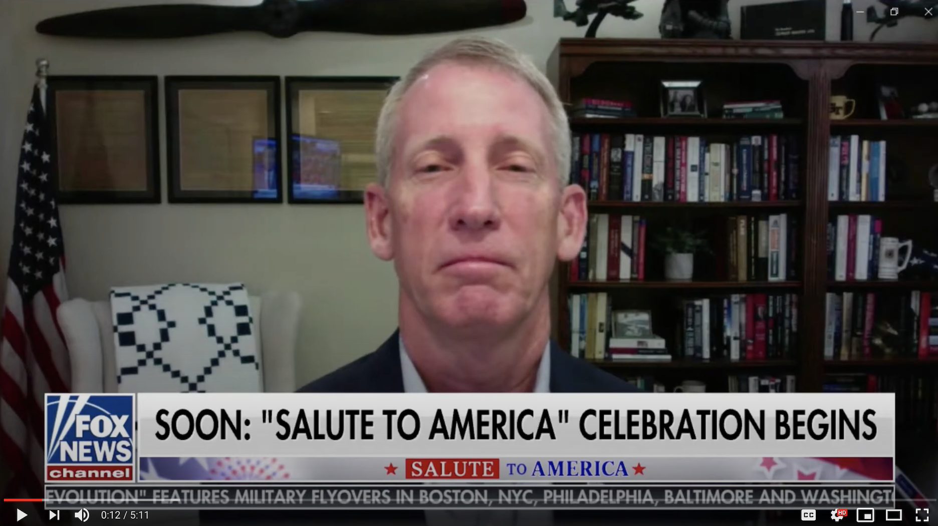 """I was honored to be on Fox News Channel with the Fox Report's Jon Scott and fellow guests Congressman Adam Kinzinger and Combat Veteran Joey Jones to celebrate America as part of Fox's coverage of President Trump's """"Salute to America"""" event at the White House. I spoke about American Exceptionalism and celebrating America's Armed Forces...."""