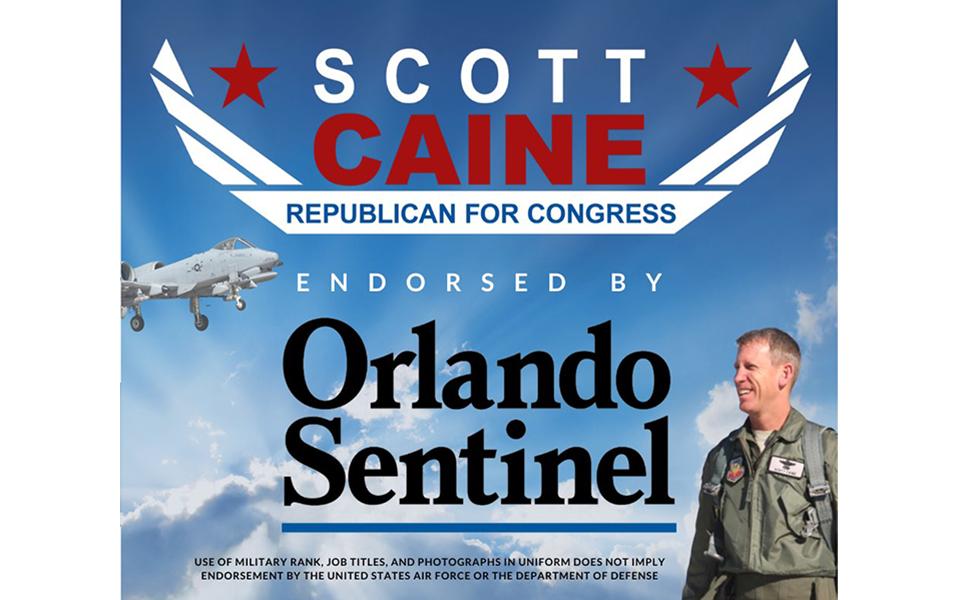 Orlando Sentinel Endorses Caine for Congress